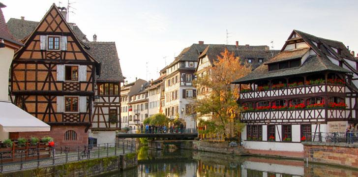 Le quartier de la Petite France à Strasbourg