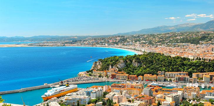 Vue d'ensemble de la ville de Nice